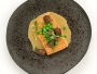 Poached Salmon with Peas and Morel Mushrooms