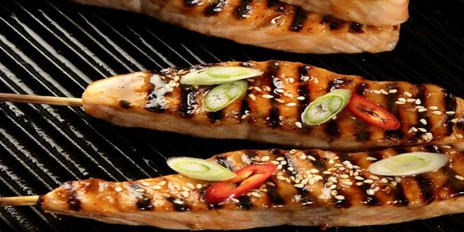 Griddled Salmon, Sesame & White Miso